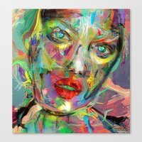 archan nair Canvas Prints featuring Ultraviolet Drops by Archan Nair