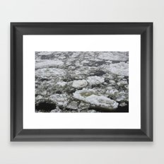 Icy river Framed Art Print