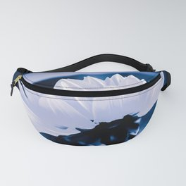 Fresh White Petals On Blue Fanny Pack
