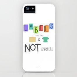 Labels iPhone Case