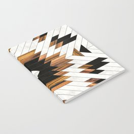 Urban Tribal Pattern No.5 - Aztec - Concrete and Wood Notebook