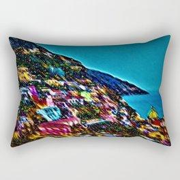 'Positano - Cavalcade of Light' Landscape by Jeanpaul Ferro Rectangular Pillow