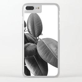 Ficus Elastica #21 #BlackAndWhite #foliage #decor #art #society6 Clear iPhone Case
