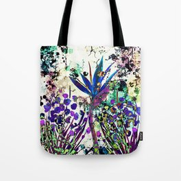 abstract background with flowers Tote Bag