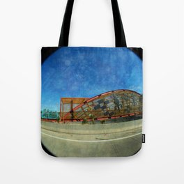 Basket Bridge Textured Tote Bag