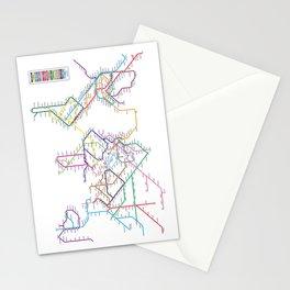 World Metro Subway Map Stationery Cards