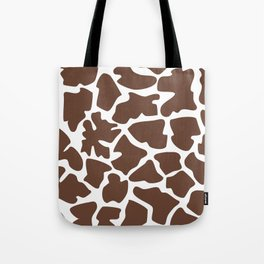 Animal Print (Giraffe Pattern) - Brown White Tote Bag