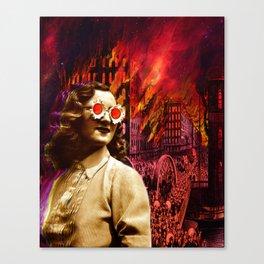 Let it burn Canvas Print