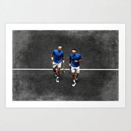 Nadal & Federer Art Print