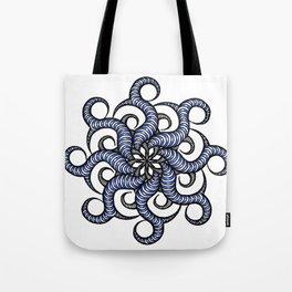 Reverse in blue Tote Bag
