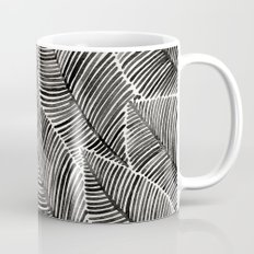 Tropical Palm Leaves – Black Palette Mug