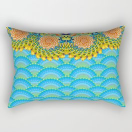 Under The Sea Wavey Dreams Psychedelic Digital Print Rectangular Pillow