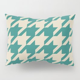 Turquoise Houndstooth Pillow Sham