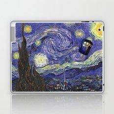 VAN GOGH STARRY NIGHT TARDIS Laptop & iPad Skin