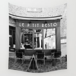 Le P'tit Resto  //  France - travel photography Wall Tapestry