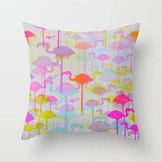 Flamingo Land Throw Pillow