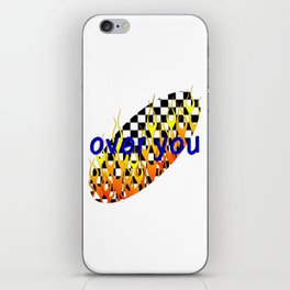 over you iPhone Skin