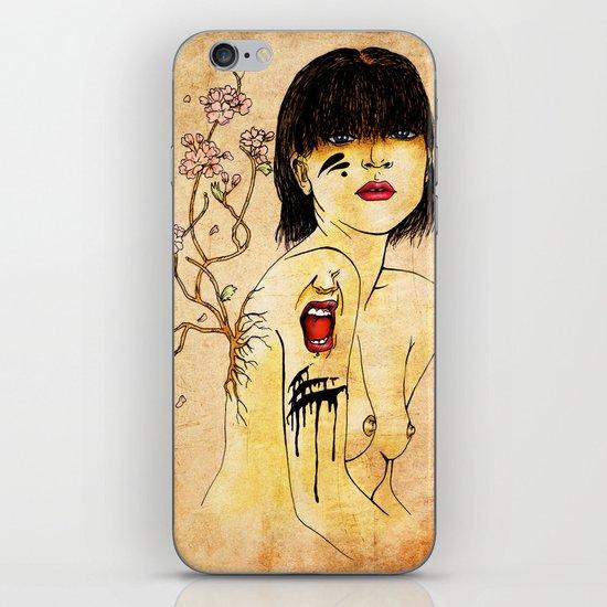 Portrait - asian woman iPhone & iPod Skin