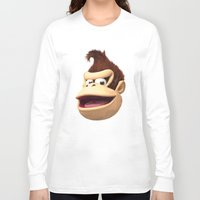donkey kong Long Sleeve T-shirts featuring Triangles Video Games Heroes - Donkey Kong by s2lart