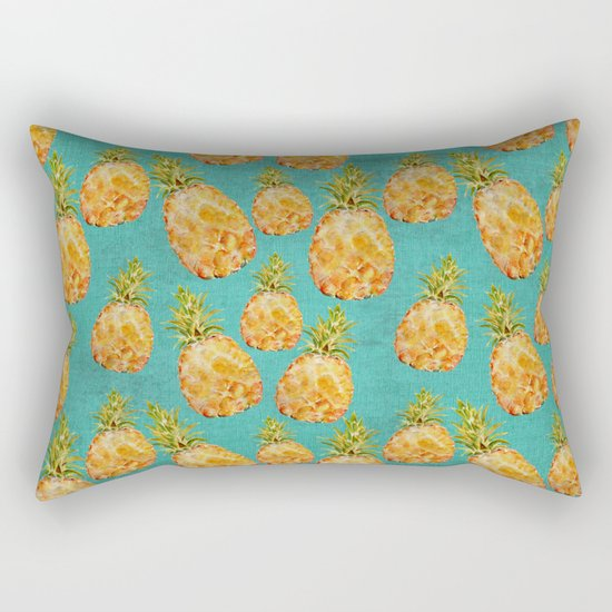 Summer pineapple fruit holiday fun pattern Rectangular Pillow
