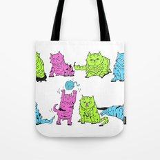 Fluro Cats Tote Bag