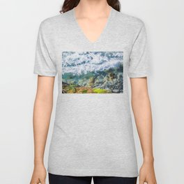 Clear Water Cliffside Unisex V-Neck