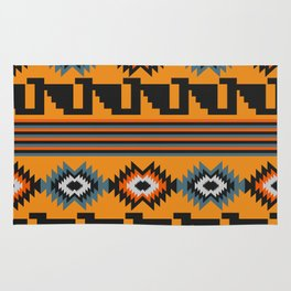 Geometric with colorful stripes Rug