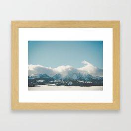 Bridger Mountain Cloud Cover Framed Art Print