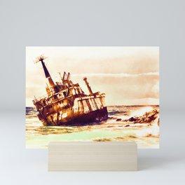 shipwreck aqrels Mini Art Print
