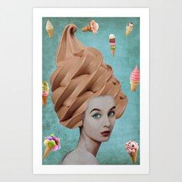 Cone Lady Collage Art Print