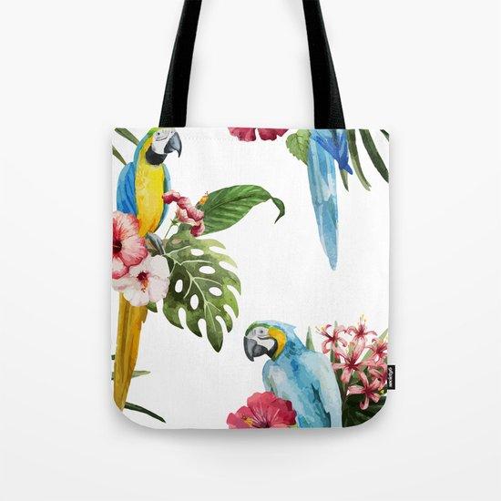 Tropical Bird Pattern 02 Tote Bag