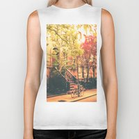 new york city Biker Tanks featuring New York City by Vivienne Gucwa