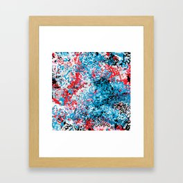 Demonic Toy Poodle Abstract Framed Art Print