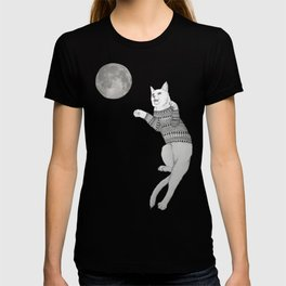 Cat trying to catch the Moon T-shirt