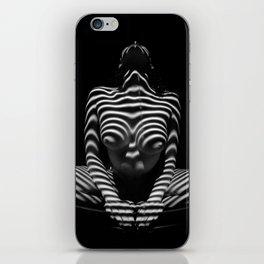 1152-MAK Abstract Nude Black & White Zebra Striped Woman Topographic Feminine Body iPhone Skin