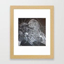 Self Portrait of a Fighter  Framed Art Print