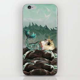 Behold the Mythical Merkitticorn - Mermaid Kitty Cat Unicorn iPhone Skin
