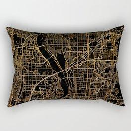 Kyoto map, Japan Rectangular Pillow