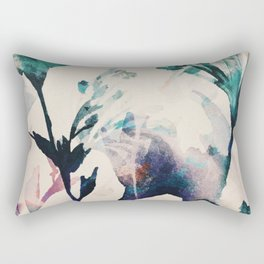 Watercolor Flowers on canvas Rectangular Pillow