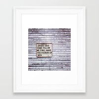 scripture Framed Art Prints featuring Scripture by Will Vastine
