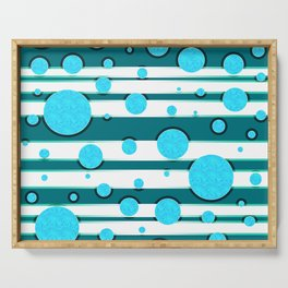 Bubbles in mintgreen, abstract print Serving Tray