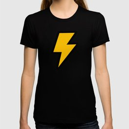 Cartoon Lightning Bolt pattern T-shirt