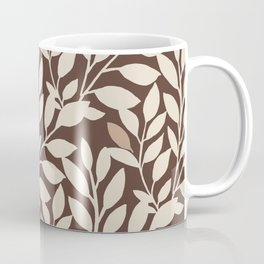 Leaves and Branches in Cream and Brown Coffee Mug