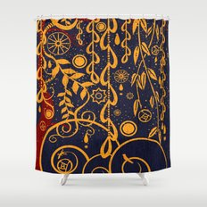 Under the Red Tree Shower Curtain