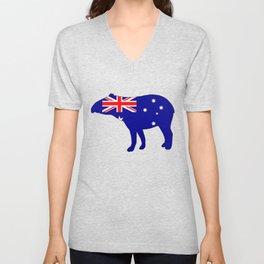 Australian Flag - Tapir Unisex V-Neck