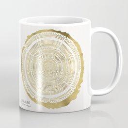 Douglas Fir – Gold Tree Rings Coffee Mug