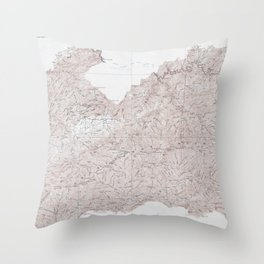 Vintage Smoky Mountains National Park Topography Map Throw Pillow