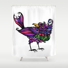 Frilly Bird Shower Curtain