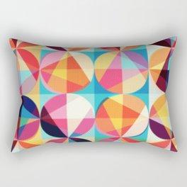 Circle pixelate Rectangular Pillow