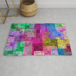 Abstract cubes Rug